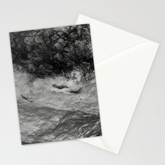 Black Tempest - Abtract Ocean Sea Pattern in Black And White Stationery Cards