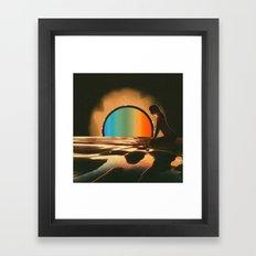Sunset meditate Framed Art Print