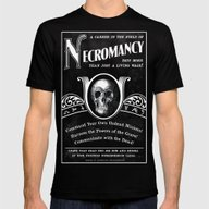 Faux School Of Necromanc… Mens Fitted Tee Black SMALL