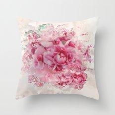 Sweet Peonies Throw Pillow