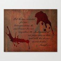 Calvary's Blood Canvas Print
