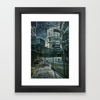 Media City Blues Framed Art Print