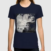 18th St San Francisco Womens Fitted Tee Navy SMALL