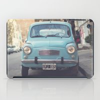 Mint - Blue Retro Fiat C… iPad Case