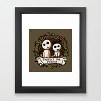 Save Kodamas V2 Framed Art Print