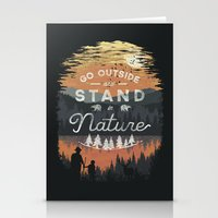 Go Outside and Stand in Nature Stationery Cards