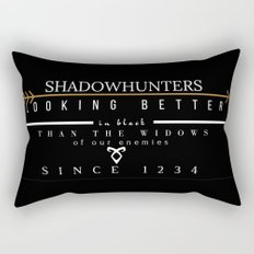 THE MORTAL INSTRUMENTS // QUOTE // SHADOWHUNTERS Rectangular Pillow