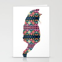 Aztec Cat Stationery Cards