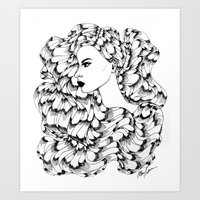 Cosmos (Line Art) Art Print
