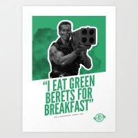 Badass 80's Action Movie Quotes - Commando Art Print