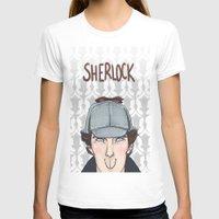 sherlock T-shirts featuring Sherlock by enerjax