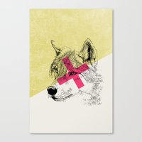 Techno Wolf Canvas Print