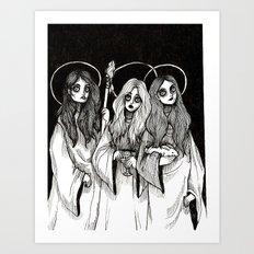 THREE WITCHES.    Art Print