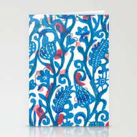 Stationery Card featuring Climbing Vine by Pink Pagoda Studio / Barbara Perrine Chu