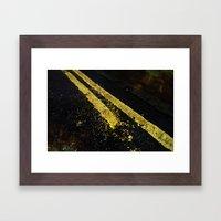 Yellow lines Framed Art Print