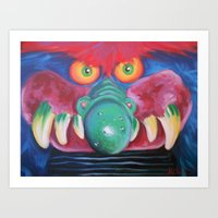 monster Art Prints featuring Monster by Hillary White