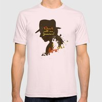 Don't call me Junior! – Indiana Jones Silhouette Quote Mens Fitted Tee Light Pink SMALL