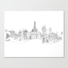 Paris! Version#1 Canvas Print