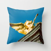 Gold Pegasus Throw Pillow