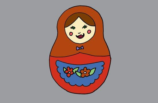1 Matroyshka Doll Art Print