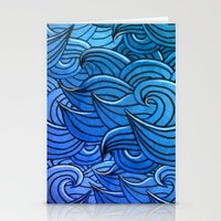 Sea waves Stationery Cards