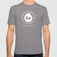 TriGhostFilms Mens Fitted Tee Tri-Grey SMALL