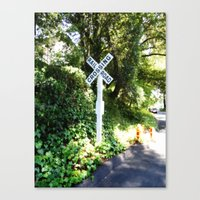Korbel Rail Road Crossing Canvas Print