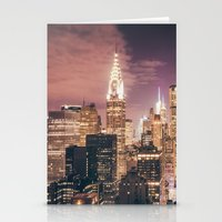 New York City - Chrysler Building Lights Stationery Cards