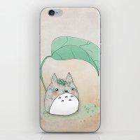 Floral Totoro iPhone & iPod Skin