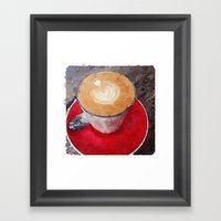 I Heart Coffee Framed Art Print