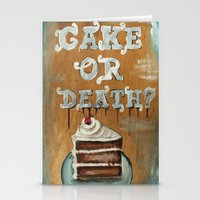 Cake Or Death? Stationery Cards