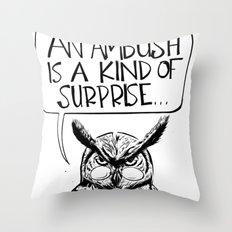 Said Owl Throw Pillow