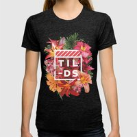 Tilds Womens Fitted Tee Tri-Black SMALL