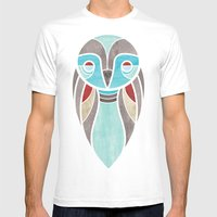 Owl Colour Mens Fitted Tee White SMALL