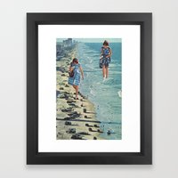 Walk on the Beach Framed Art Print