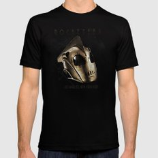 ROCKETEER! Black SMALL Mens Fitted Tee