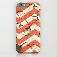 Peeling Chevrons Orange iPhone 6 Slim Case