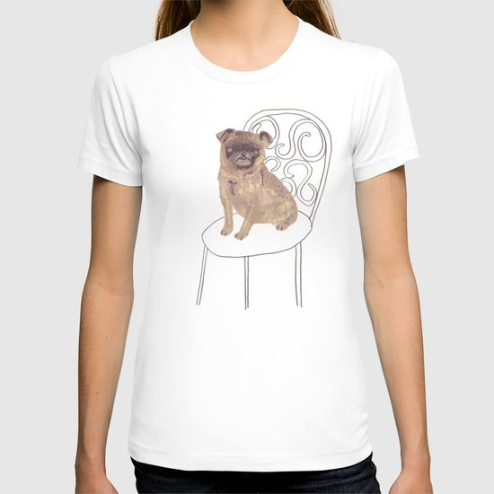 Pug on a chair T-shirt