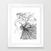 Black Swan (Dancer) Framed Art Print