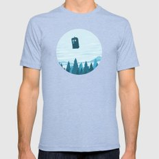 I Believe - Blue Mens Fitted Tee Tri-Blue SMALL