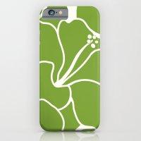 Hibiscus Animal Green iPhone 6 Slim Case