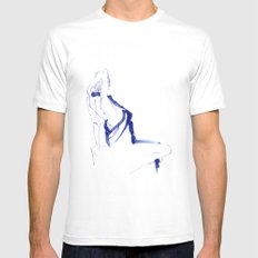 ...In a Blue Dress Mens Fitted Tee SMALL White