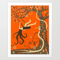 Art Print featuring OUTCAST by Jazzberry Blue