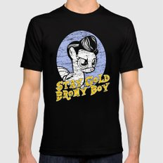 Stay Gold Brony Boy SMALL Black Mens Fitted Tee