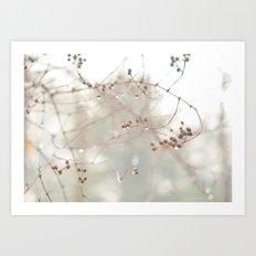 Berry Drops Art Print