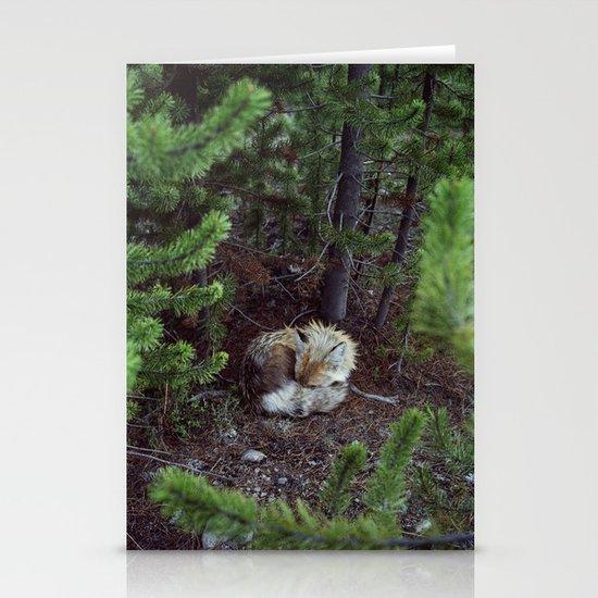 Sleeping Fox Stationery Card