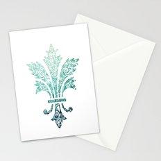 Fleur De Lis - French - Blue Stationery Cards