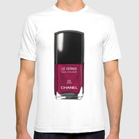 Chanel Nail Polish April Mens Fitted Tee White SMALL