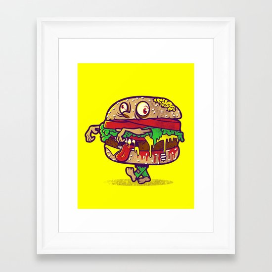 ZOMBURGER Framed Art Print