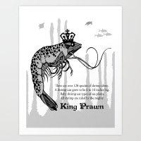 King Prawn Art Print